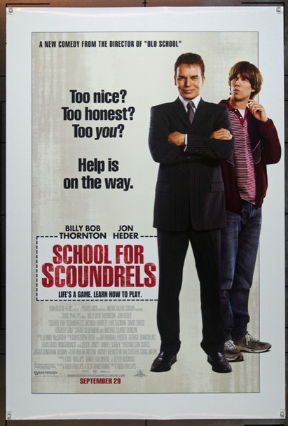 SCHOOL FOR SCOUNDRELS (2006) 20646 Original Dimension Films One Sheet Poster (27x40). Rolled. Double-sided.  Very Fine Plus.