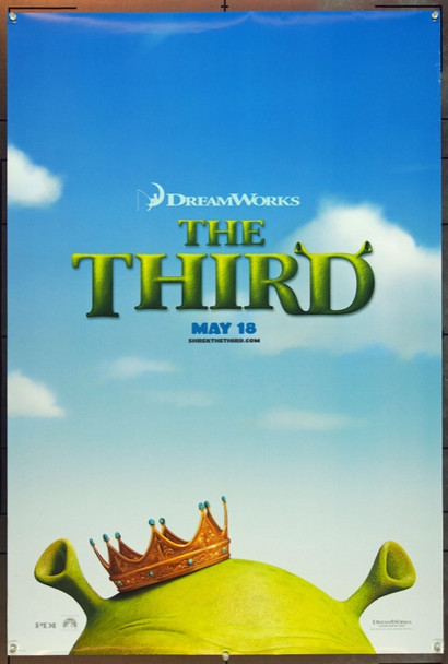 SHREK THE THIRD (2007) 20700 Original Dreamworks Style A Advance One Sheet Poster (27x40). Rolled. Double-sided.  Very Fine Plus.
