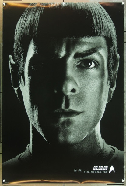 STAR TREK (2009) 20725 Original Paramount Pictures Advance One Sheet Poster (27x40).  Spock Portrait (Zachary Quinto).  Double-Sided.  Rolled.  Very Fine Plus.