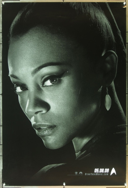 STAR TREK (2009) 20726 Original Paramount Pictures Advance One Sheet Poster (27x40).  Uhura Portrait (Zoe Saldana).  Double-Sided.  Rolled.  Very Fine Plus.