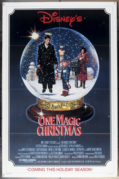 ONE MAGIC CHRISTMAS (1985) 20546 Original Walt Disney Productions One Sheet Poster (27x41).  Folded.  Very Fine.