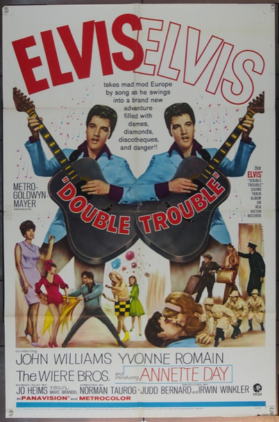 DOUBLE TROUBLE (1967) 18496 Original MGM One Sheet Poster (27x41). Fine Plus