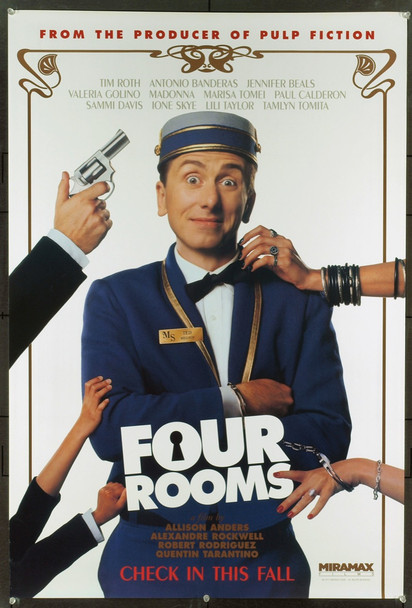 FOUR ROOMS (1995) 6613 Miramax Original One Sheet Poster  27x41  Rolled.  Very Fine.