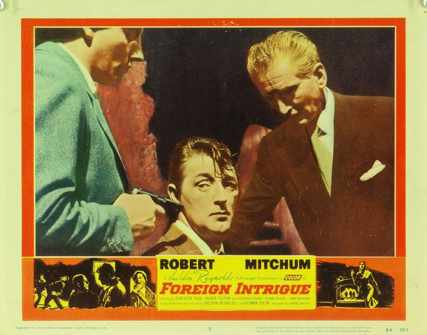 FOREIGN INTRIGUE (1956) 9386 Original United Artists Scene Lobby Card (11x14).  Very Good.