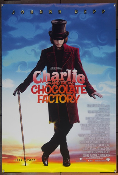 CHARLIE AND THE CHOCOLATE FACTORY (2005) 20688 Original Warner Brothers Advance One Sheet Poster (27x41).  Double-Sided.  Rolled.  Very Fine.