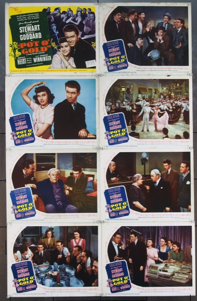 POT O' GOLD (1941) 6515 United Artists Complete Lobby Card Set (11x14). Very Good to Very Fine.