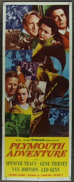 PLYMOUTH ADVENTURE (1952) 20762 Original MGM Insert Poster (14x36).  Folded.  Very Fine.