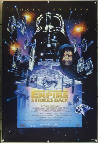 EMPIRE STRIKES BACK, THE (1980) 7405 Original 20th Century-Fox 1997 Re-Release One Sheet Poster (27x41).  Drew Struzan Artwork.  Rolled.  Very Fine Plus.