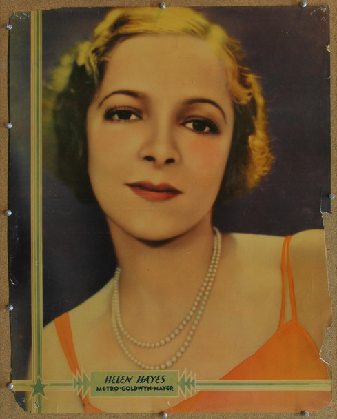 HELEN HAYES (1932) 16528 MGM Studio Personality Portrait Half Sheet.   22x28.  Actress Helen Hayes.  Good