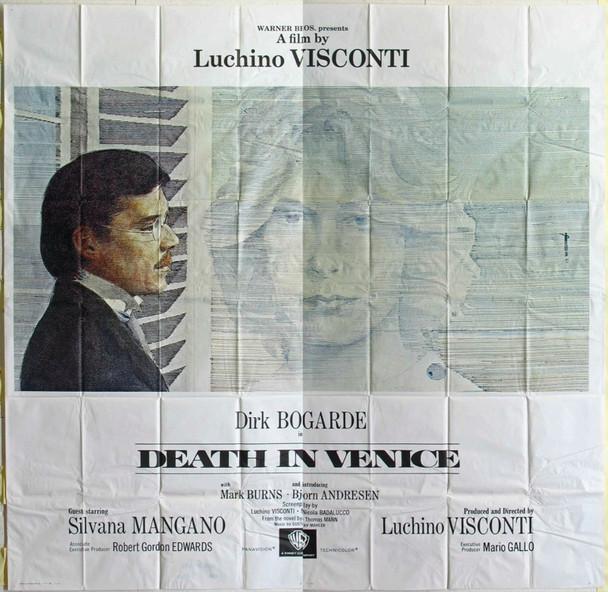 MORTE A VENEZIA (1971) 16751 Warner Brothers Internantional Six Sheet Poster.  Fine Plus Condition.  Folded.  81x81.