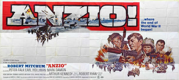ANZIO (1968) 16750 Columbia Pictures 24 sheet poster.  Exterior billboard.  9 x 20 feet.  Good condition.