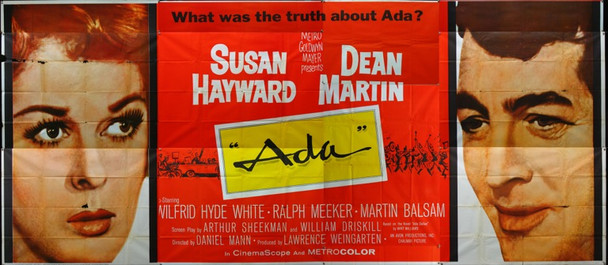 ADA (1961) 18174 Original MGM Twenty Four Sheet (9 ft. x 20 ft.).  External Billboard.  Good Condition.