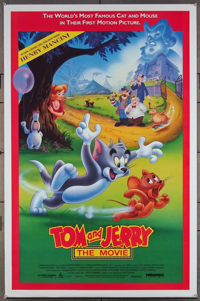 TOM AND JERRY: THE MOVIE (1993) 5336 Original Miramax One Sheet Poster. (27x40).  Unfolded.  Very Fine Plus  ROLLED  NEVER FOLDED