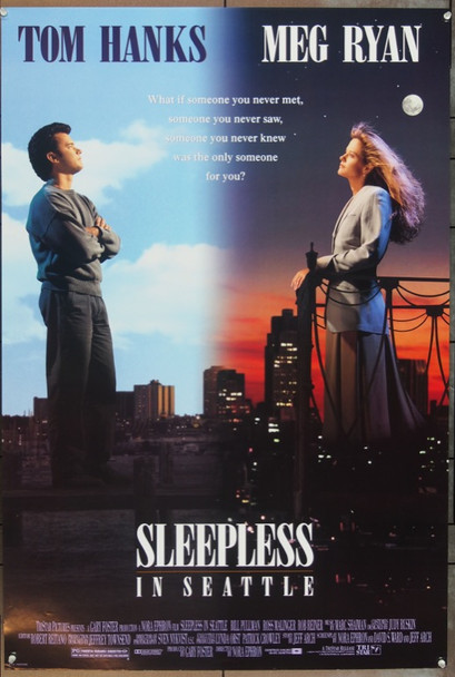 SLEEPLESS IN SEATTLE (1993) &21973 Original TriStar Pictures One Sheet Poster (27x41).  Unfolded.  Very Fine Condition.