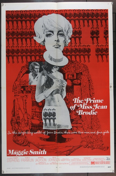 PRIME OF MISS JEAN BRODIE, THE (1969) 9378 Original 20th Century Fox One Sheet Poster (27x41).  Folded.  Very Fine.