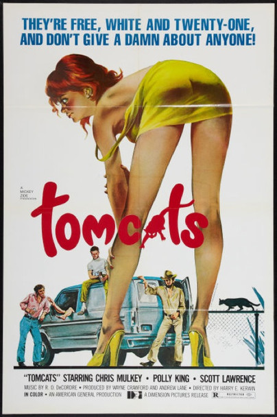 TOMCATS (1977) 22405 Original Dimension Pictures One Sheet Poster (27x41).  Folded.  Very Fine.