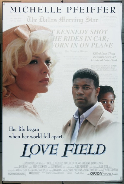 LOVE FIELD (1993) 5003 Original Orion Pictures One Sheet Poster (27x41).  Double-Sided.  Unfolded.  Very Fine.