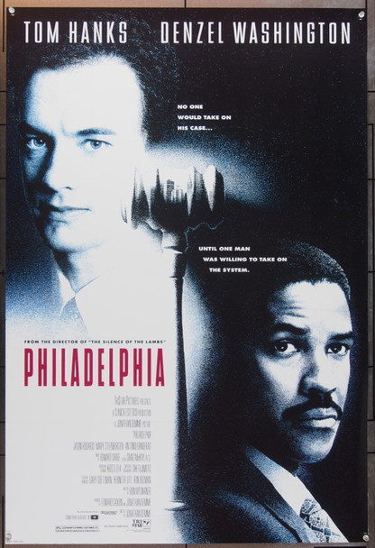 PHILADELPHIA (1993) 574 Original TriStar Pictures One Sheet Poster (27x41).  Unfolded.  Very Fine.