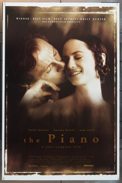PIANO, THE (1993) &5741 Original Miramax Films One Sheet Poster (27x41).  Rolled.  Near Mint.