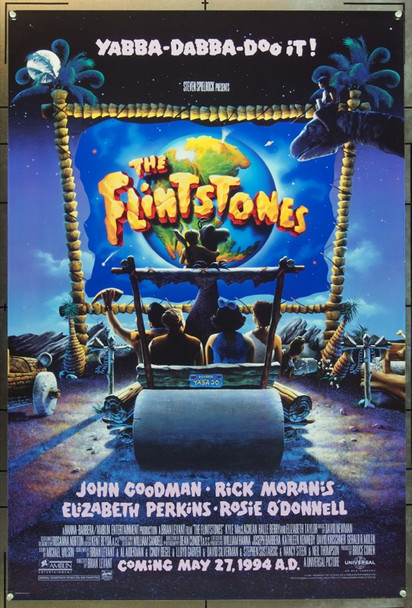 FLINTSTONES, THE (1994) 5747 Original Universal Pictures Advance One Sheet Poster (27x41).  Rolled.  Very Fine.