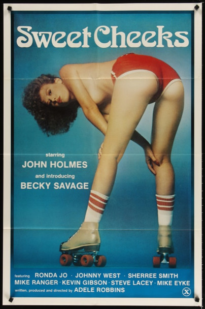 SWEET CHEEKS (1980) 23975 Snowflake Films One Sheet Poster.  27x41  Folded. Very Fine.  And we do mean fine.
