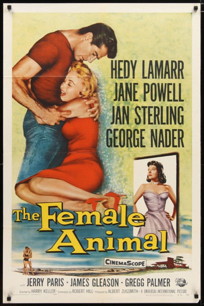 FEMALE ANIMAL, THE (1958) 23973 Universal One Sheet Poster   27x41  Very Fine  Folded