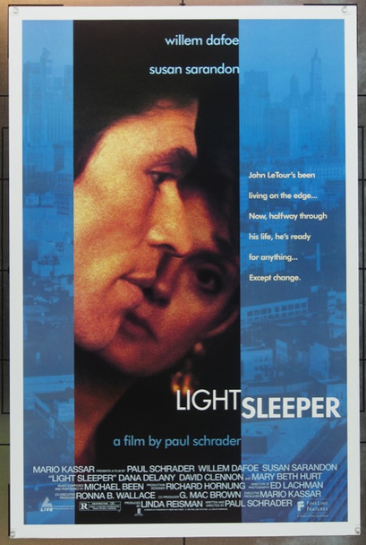 LIGHT SLEEPER (1992) 4661 Original Fine Line Features One Sheet Poster (27x41).  Rolled.  Very Fine Plus.