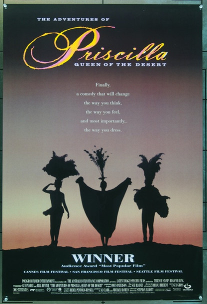 ADVENTURES OF PRISCILLA,QUEEN OF THE DES (1994) 6091 Original Gramercy Pictures One Sheet Poster (27x41).  Double-Sided.  Rolled.  Very Fine Plus.