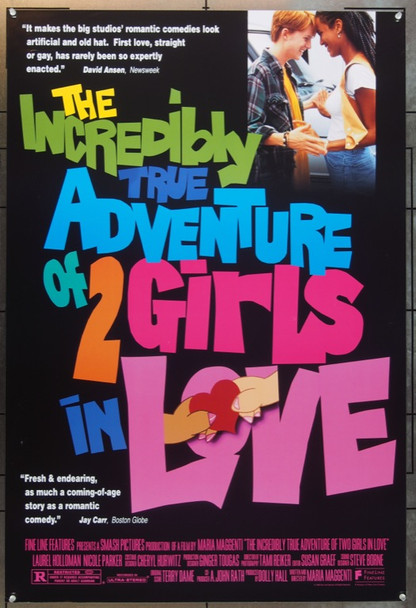 INCREDIBLY TRUE ADVENTURES OF TWO GIRLS (1995) 6392 Original Fine Line Features One Sheet Poster (27x41).  Rolled.  Very Fine Plus.