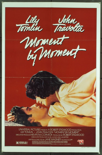 MOMENT BY MOMENT (1978) 7751 Original Universal Pictures One Sheet Poster (27x41).  Folded.  Very Fine Plus Condition.