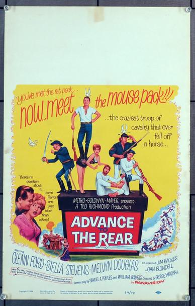 ADVANCE TO THE REAR (1964) 21828 Original Fox Film Corporation Insert Poster (14x36).  Very Fine.