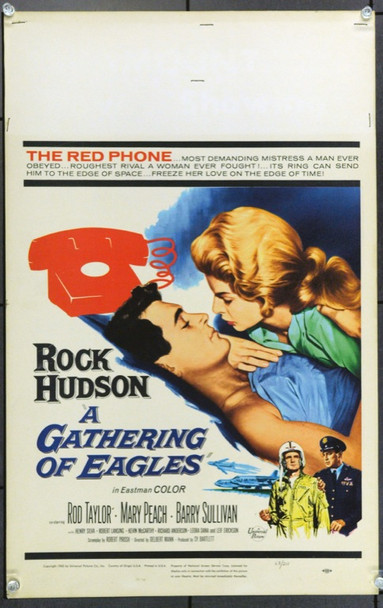 GATHERING OF EAGLES, A (1963) 22175 Original Universal Pictures Window Card (14x22).  Unfolded.  Fine Plus.