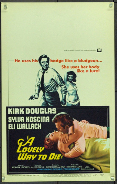 LOVELY WAY TO DIE, A (1968) 21887 Original Universal Pictures Window Card (14x22).  Unfolded.  Very Fine.