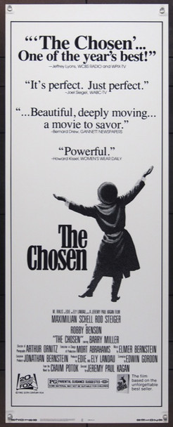 CHOSEN, THE (1982) 1044 Original Analysis Film Releasing Corporation Insert Poster (14x36).  Never Folded.  Very Fine.