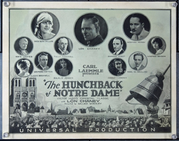 HUNCHBACK OF NOTRE DAME (1923) 24031 Universal Pictures Title Card.  11x14.  Very Fine Condition.