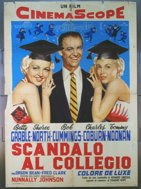 HOW TO BE VERY, VERY POPULAR! (1955) 24089 Original Italian 2 Fogli Poster (39x55).   Folded.  Very Good Condition