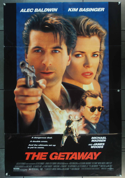 GETAWAY, THE (1994) 23094 Original Universal Pictures One Sheet Poster (27x41).  Folded.  Very Fine Condition.