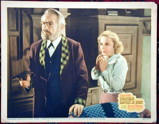 EVERYTHING HAPPENS AT NIGHT (1939) 15311 Original 20th Century Fox Scene Lobby Card (11x14).    Very Good To Fine