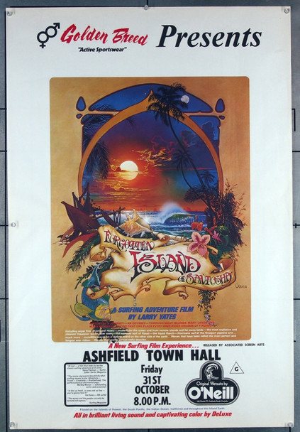 FORGOTTEN ISLAND OF SANTOSHA (1974) 10918 SANTOSHA PRODUCTIONS AUSTRALIAN ONE SHEET POSTER  27x41  VERY FINE PLUS  NEVER FOLDED