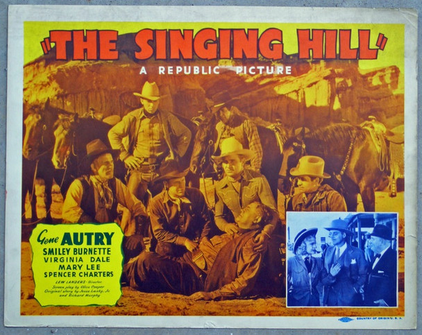 SINGING HILL, THE (1941) 8906 THE SINGING HILL Original Republic Pictures Title Lobby Card (11x14). Fine Condition