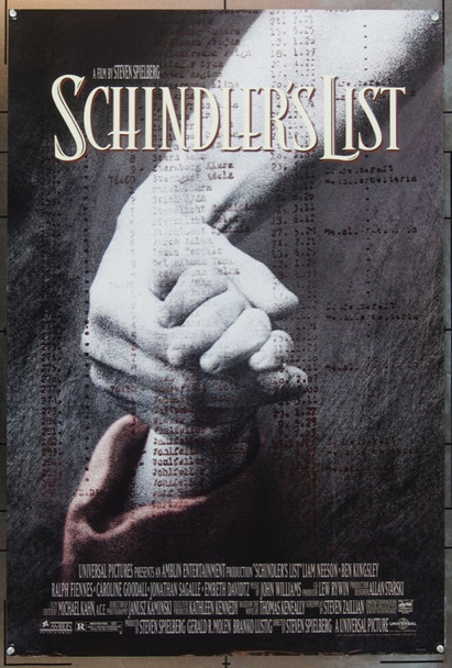 SCHINDLER'S LIST (1993) 5740 Original Universal Pictures Style A One Sheet Poster (27x41).  Rolled.  Near Mint.