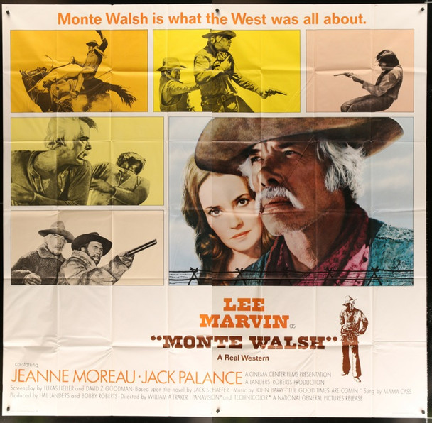 MONTE WALSH (1970) 24339 Original National General International Six Sheet Poster    81x81   Very Fine Condition
