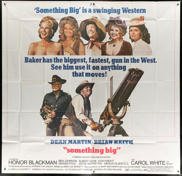 SOMETHING BIG (1971) 24340 Original National General Six Sheet Poster   81x81 inches  Very Fine Condition