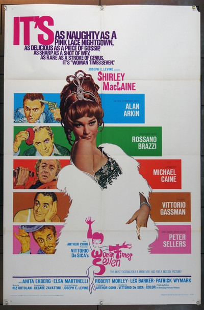 SETTE VOLTE DONNA (1967) 18575 Original Embassy Pictures One Sheet Poster (27x41).  Folded.  Very Fine.