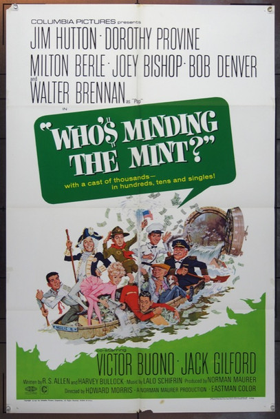 WHO'S MINDING THE MINT? (1967) 18572 Original Columbia Pictures One Sheet Poster (27x41).  Folded.  Very Fine Condition.