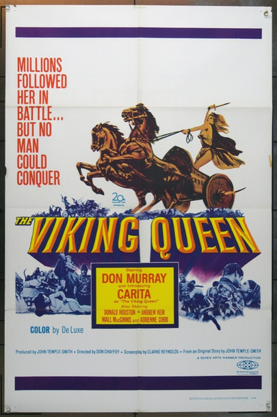 VIKING QUEEN, THE (1967) 18570 Original Warner-Pathe One Sheet Poster (27x41).  Folded.  Very Fine Plus Condition.