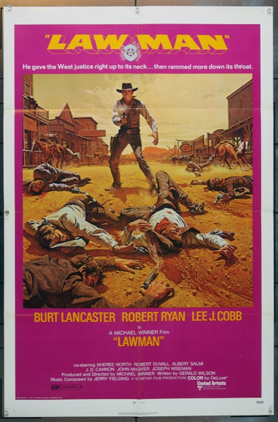 LAWMAN (1971) 15864 United Artists One Sheet Poster    27x41   Folded   Very Fine
