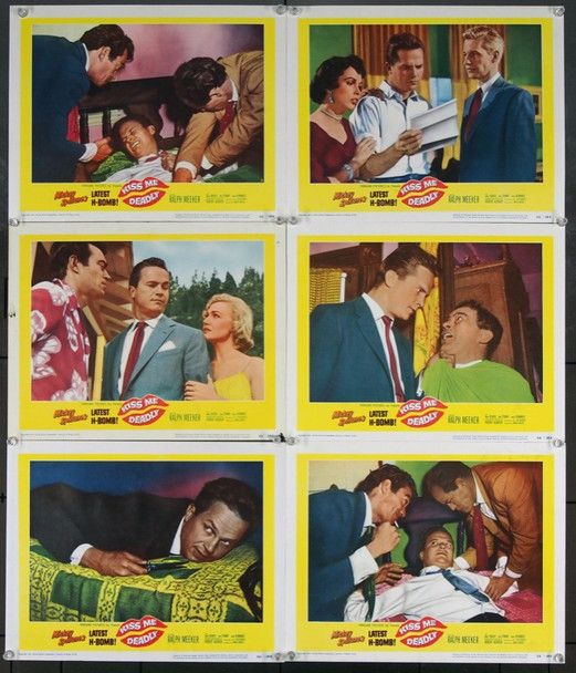 KISS ME DEADLY (1955) 22757 Original United Artists Group of Six Scene Lobby Cards (11x14).  Very Fine Condition.