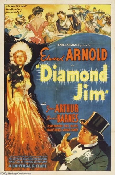 DIAMOND JIM (1935) 15617 Original Universal Pictures One Sheet Poster (27x41).  Jean Arthur  Edward Arnold Movie Poster