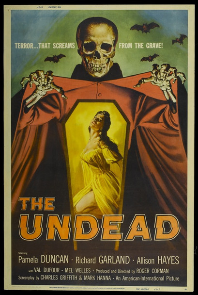 UNDEAD, THE (1957) 19063 Original American International Pictures 40x60 Poster.  Very Fine.